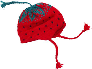 Strawberry Doll Hat