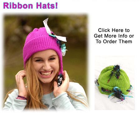 New for 2008!  Ribbon hats for that Fun look!